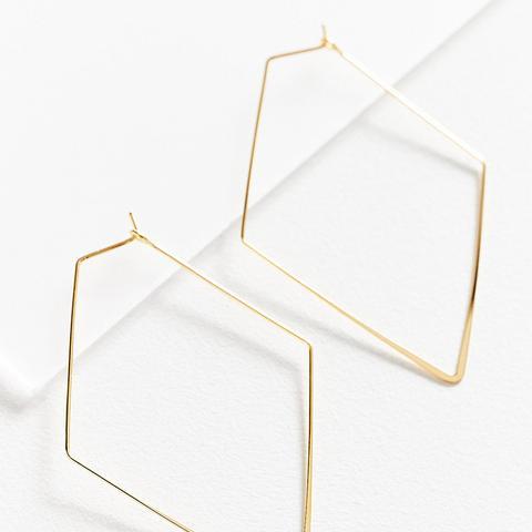 18K Gold-Plated Geometric Hoop Earring
