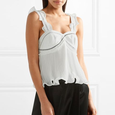 Ruffle-Trimmed Top