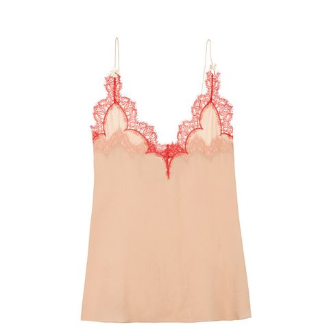 Eylash Lace-Trimmed Top