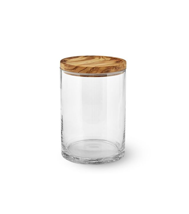 Williams-Sonoma Olivewood & Glass Canister