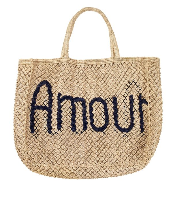 French slogan clothing: Hush Amour Beach Bag