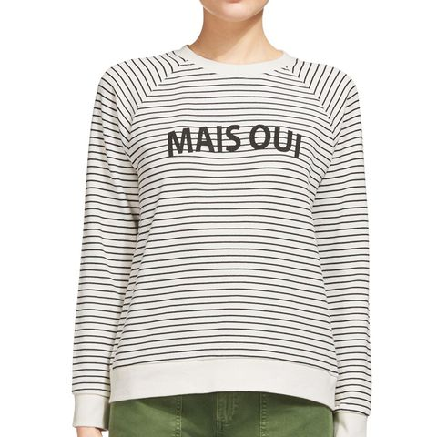Mais Oui Stripe Sweatshirt