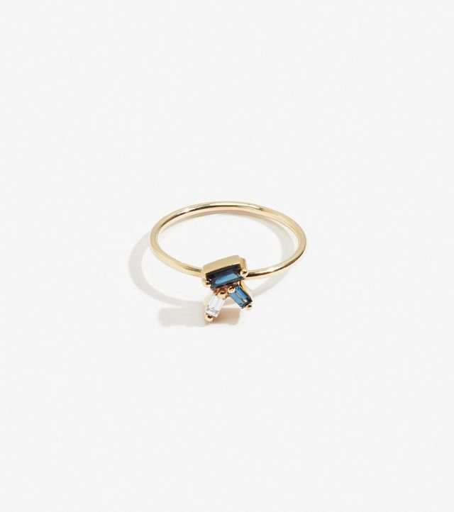Lucy Folk Blue Hues Cluster Ring