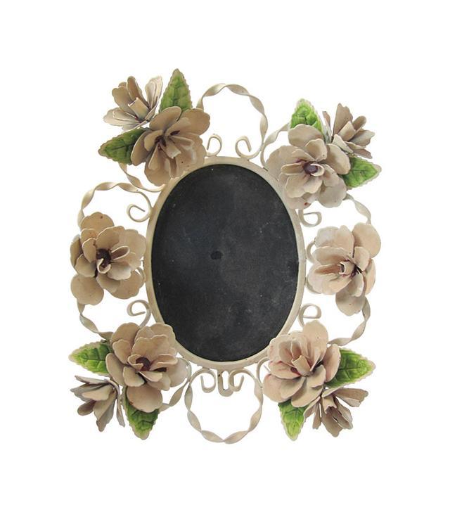 Vintage Tole Flower Picture Frame