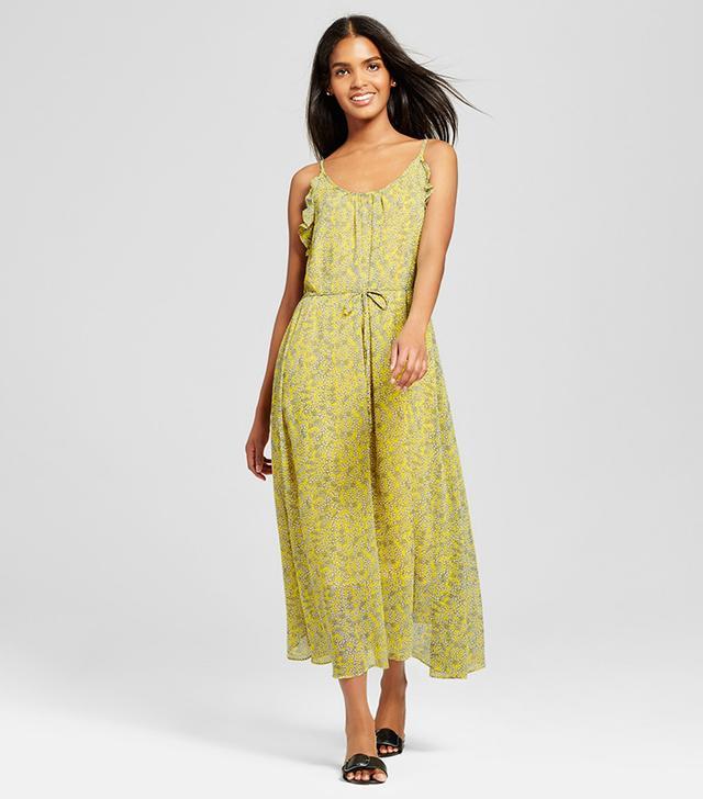 Who What Wear Ruffle Trim Slip Dress