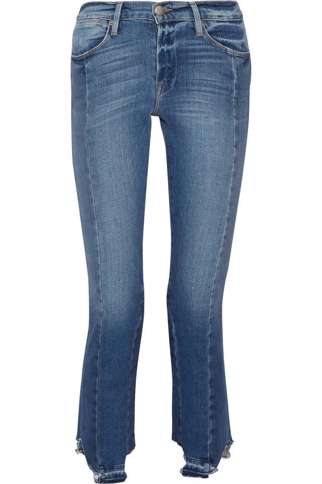 Frame High Mix Straight-Leg Jean