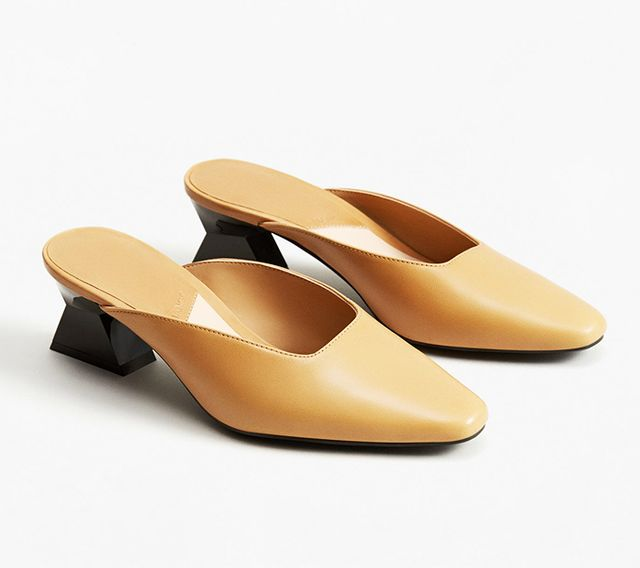 Mango Geometric Leather Shoes