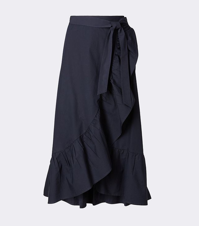 M&S Collection Wrap Ruffle A-Line Midi Skirt