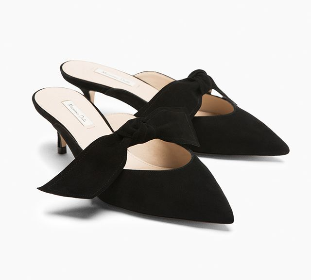 Massimo Dutti Shoes With Bow Detail