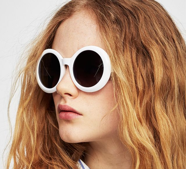 Pull & Bear White Plastic Glasses