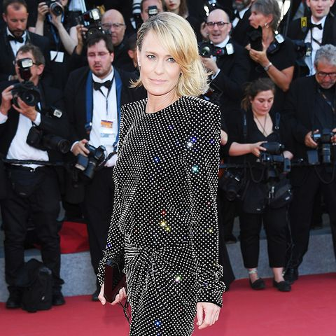 Cannes Red Carpet Best Dressed 2017:  Robin Wright wearing Saint Laurent