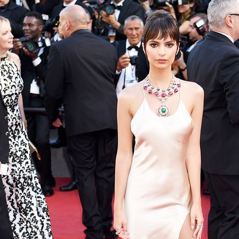 Cannes Red Carpet Best Dressed 2017: Emily Ratajkowski wearing Twinset