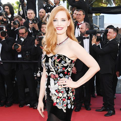Cannes Red Carpet Best Dressed 2017: Jessica Chastain wearing Alexander McQueen