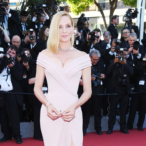 Cannes Red Carpet Best Dressed 2017:  Uma Thurman wearing Atelier Versace