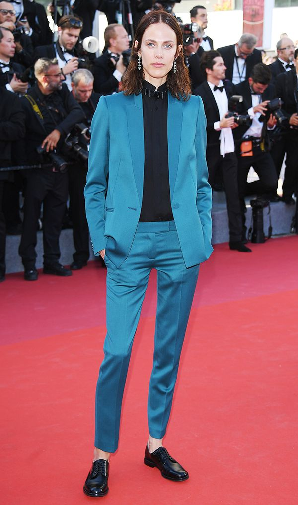 Cannes Red Carpet Best Dressed 2017: Aymeline Valade wearing Pallas Custom Tuxedo