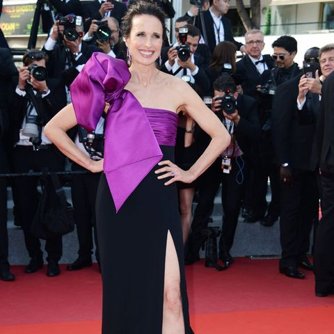 Cannes Red Carpet Best Dressed 2017: Andie MacDowell  in Roberto Cavalli Couture