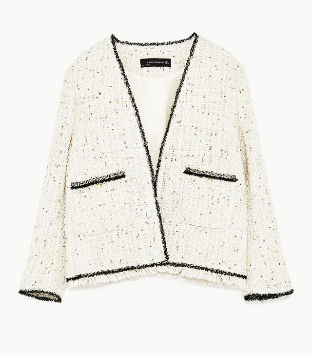 Zara Sequinned Tweed jacket