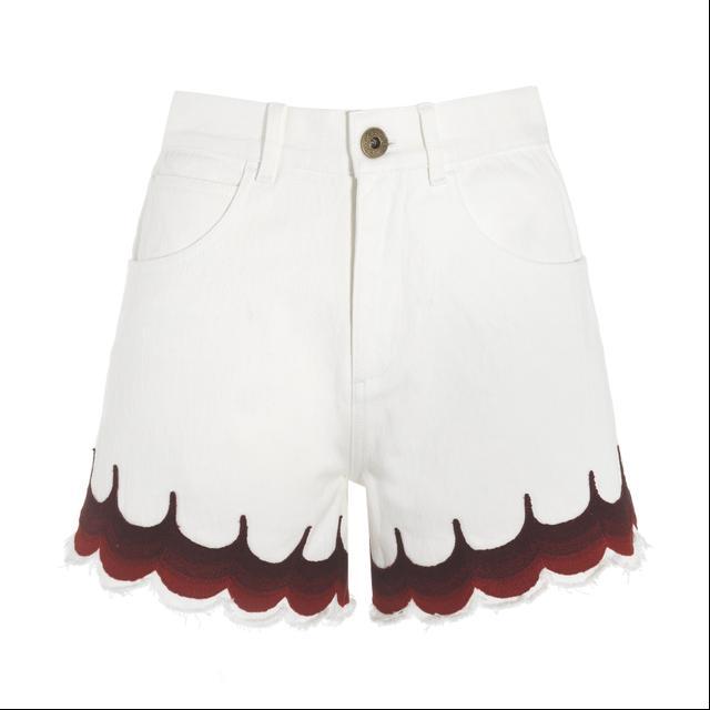 Chloé Scalloped Shorts