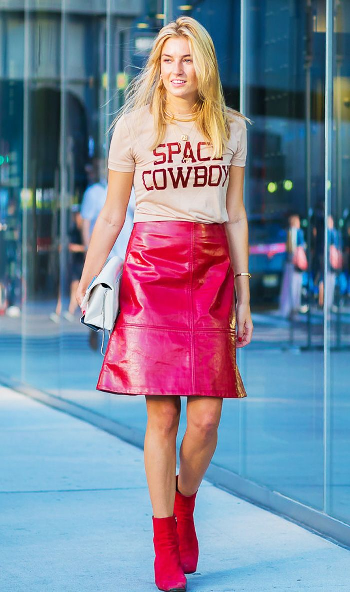 Most attractive colour to wear: Camille Charriere in red