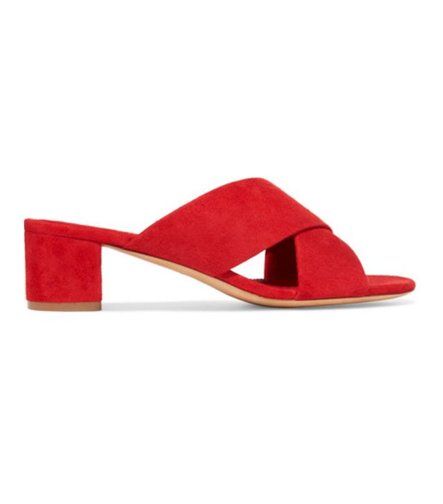 Colour the most attractive to men: Red Mansur Gavriel slides