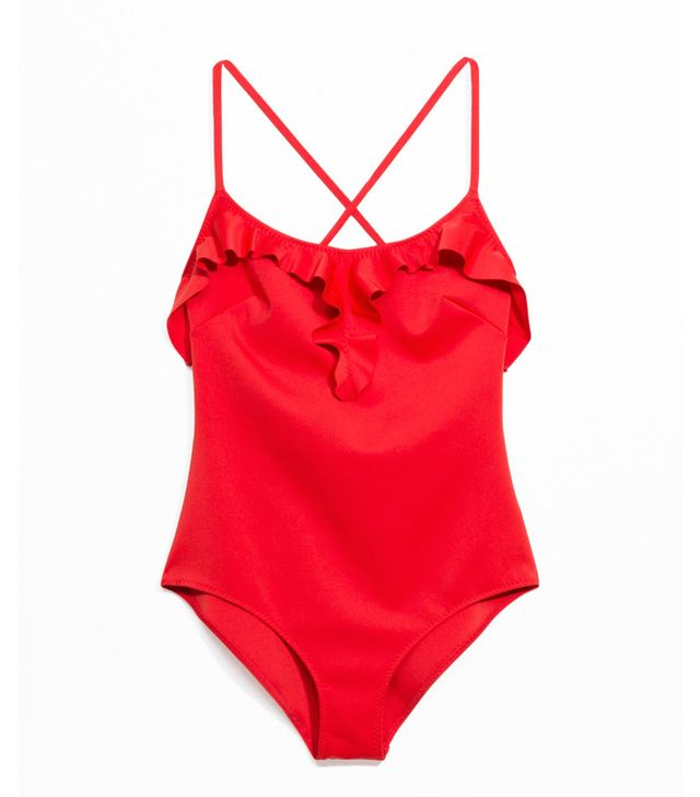 Colour the most attractive to men: Red & Other Stories swimsuit