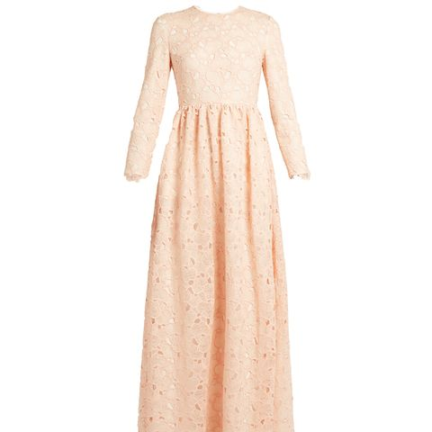 Axelia Cloud-Lace Long-Sleeved Gown