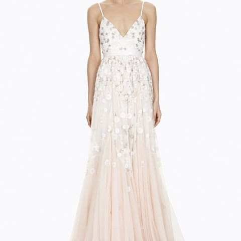 Trailing Tiered Gown