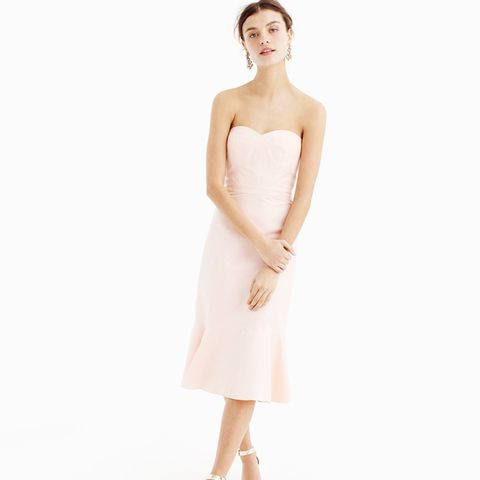 Strapless Ruffle-Hem Dress