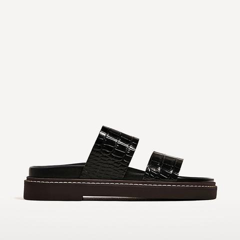 Embossed Sandals
