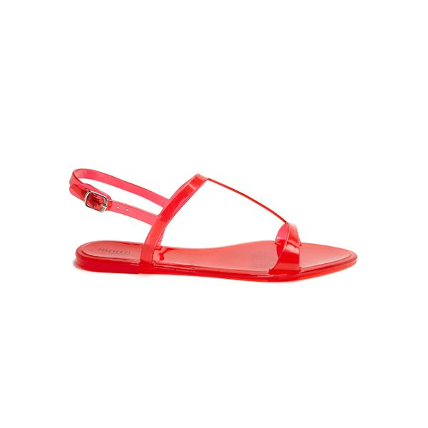 Forever 21 Jelly T-Strap Sandals