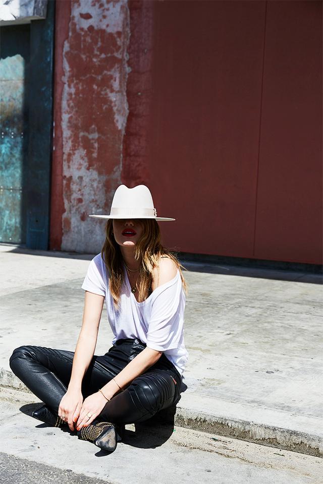 Anine Bing Scarlett Hat - Beige