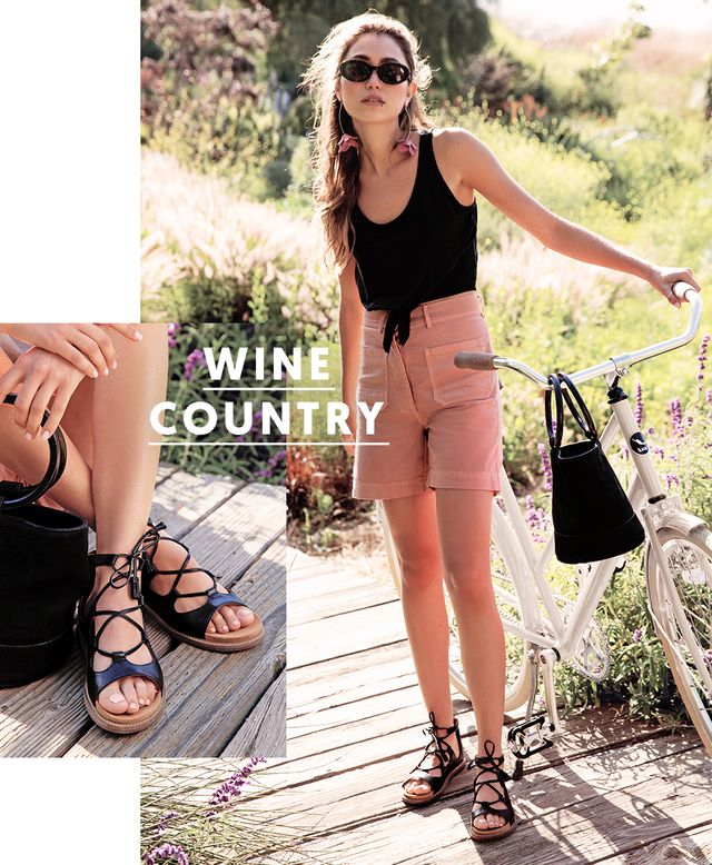 If your itinerary is full of activities (sipping on wine included), biking through fields of flowers, or retreating to an outdoor dinner by the sunset, you'll need to pack some lace-up...