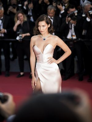 The Glossy Lip Product Bella Hadid Wore on the Cannes Red Carpet