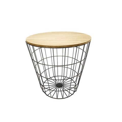 Storage Wire Basket Table