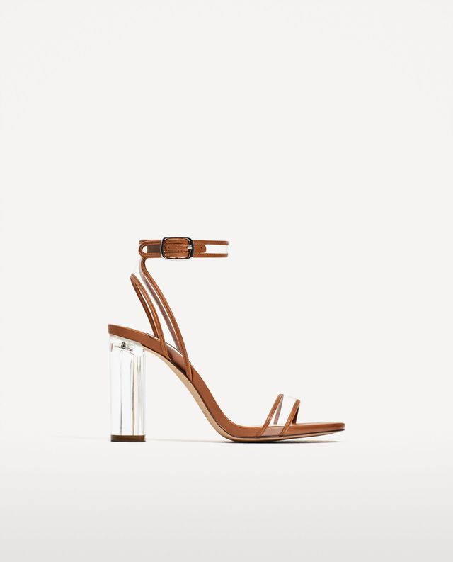 Zara Vinyl High-Heel Sandals
