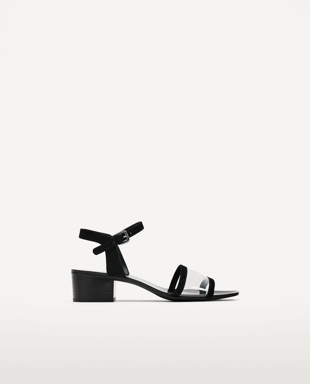 Zara High-Heel Ankle Strap Sandals