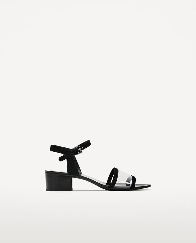 Zara High-Heel Ankle Strap Sandals