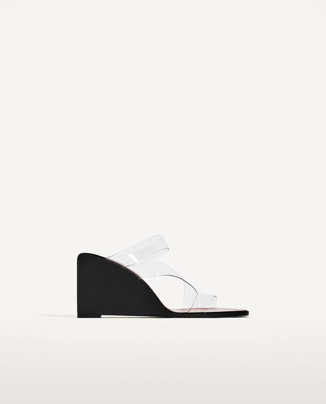 Zara Backless Vinyl Sandals