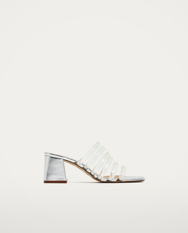 Zara Mules With Vinyl Straps