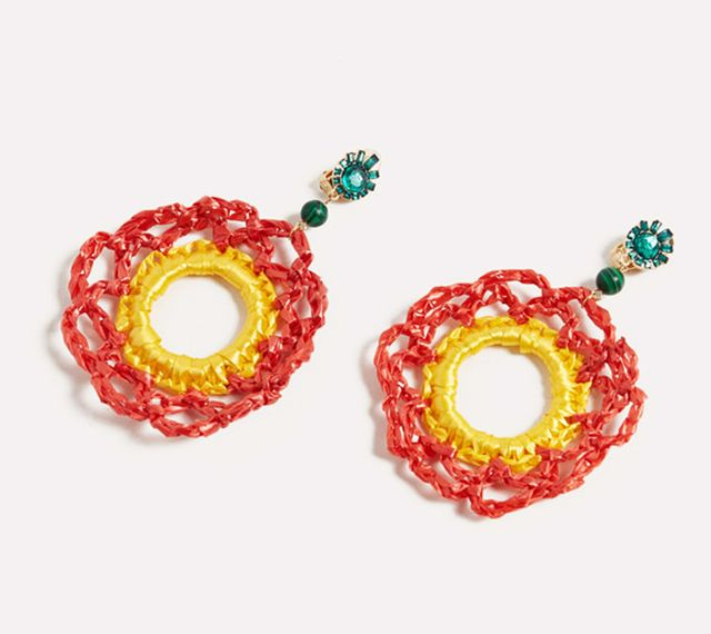 Uterqüe Crochet Earrings