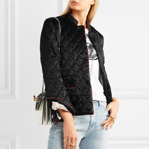 Quilted Satin Jacket