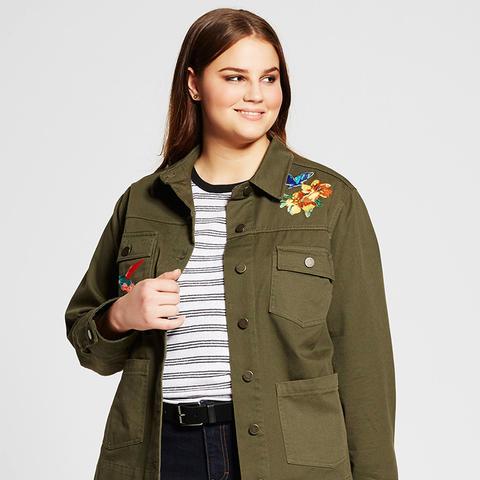 Plus Size Patchwork Jacket