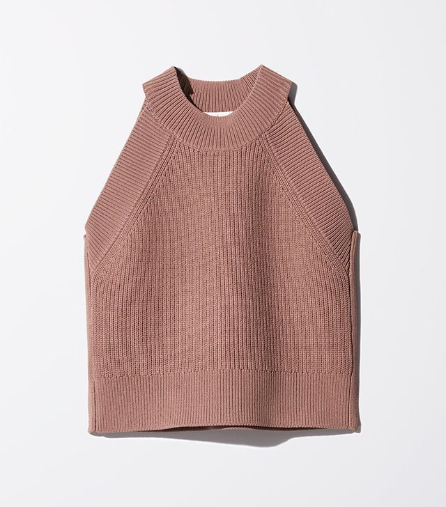 Aritzia Wilfred Crevier Knit Top in Nutmeg