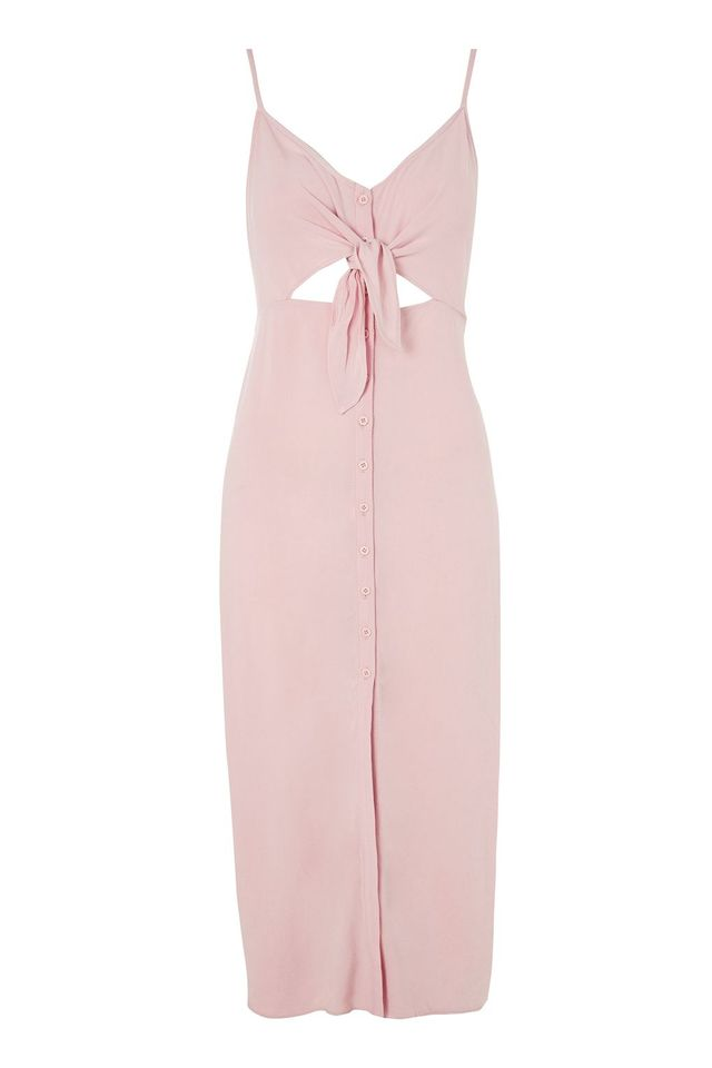 Top Shop Knot Front Midi Slip Dress