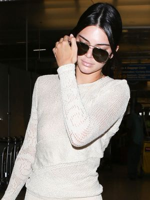 So, Kendall Jenner Wore See-Through Pants to the Airport