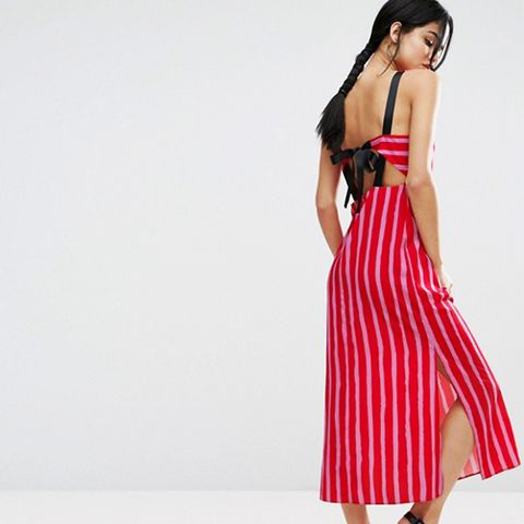 Maxi Dress With Grosgrain Straps