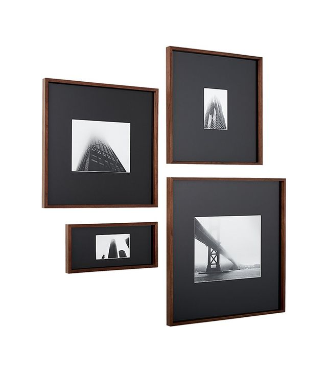 CB2 Walnut Frames With Black Mats