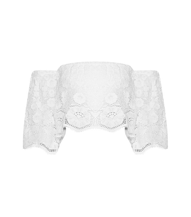 Miguelina Kela Off-the-Shoulder Cotton-Lace Top