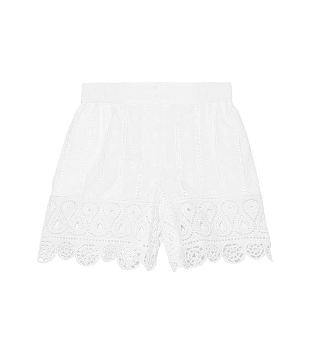 Opening Ceremony Broderie Anglaise Cotton Shorts