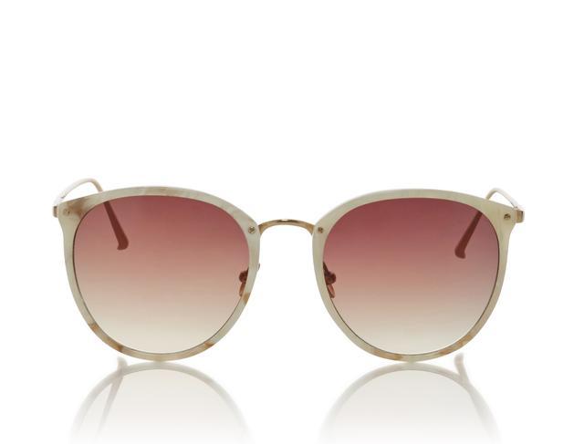 Linda Farrow Ivory Frame Rose Ombre Sunglasses